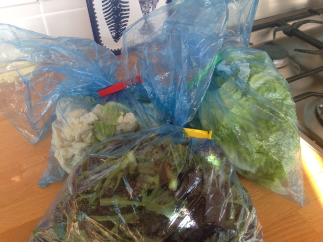 Three bags full....