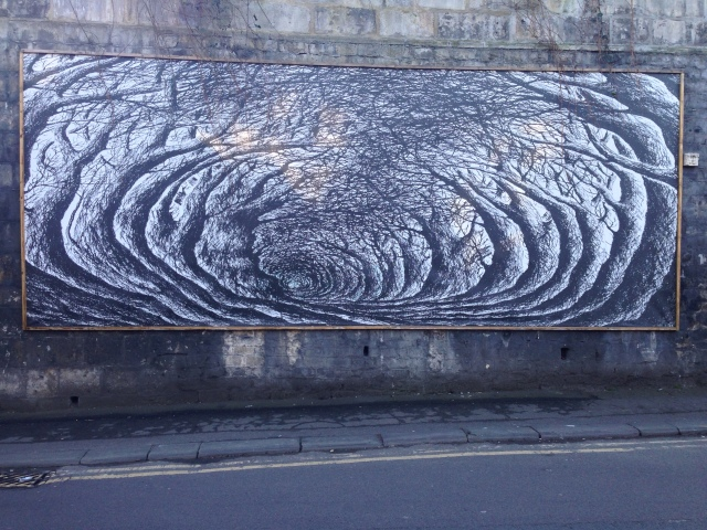 Wall-mounted holloway, by Stanley Donwood